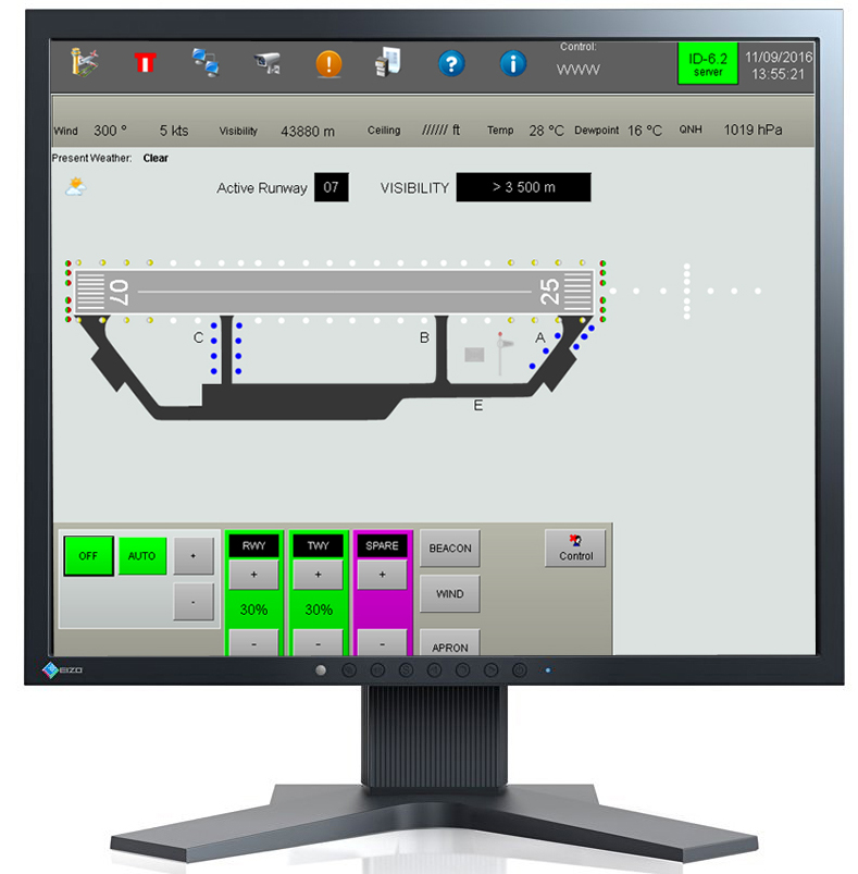 ID6.2 software on professional EIZO 4:3 inch